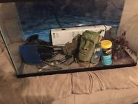 Fish tank for sale 120$ has everything trades welcome