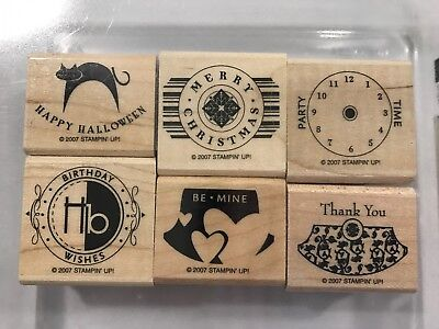Party Punch Halloween (Stampin' Up Party Punch Rubber Stamp Set of 6 Wood Mounted Christmas)