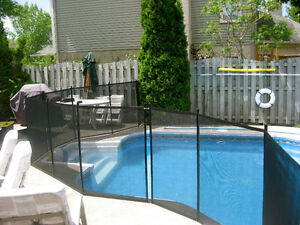 Removable swimming pool fence