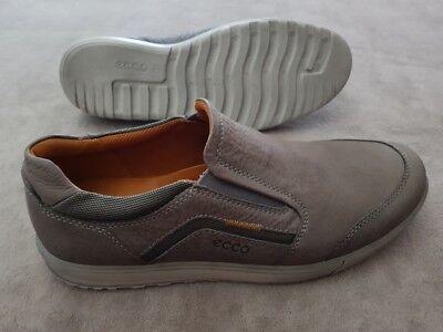 Ecco Herren Leder Schuhe, Größe 44, Farbe: Grau, ungetragen