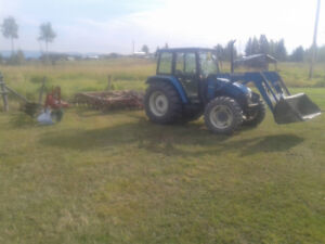 Tractor, plow, disk for hire