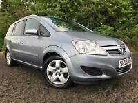 *12 MTHS WARRANTY*2009(59)VAUXHALL ZAFIRA 1.8 VVTI ACTIVE WITH 61K FSH 2 KEYS*