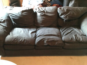 Used living room set includes couch, loveseat and chair $300