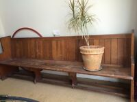Church pew, solid wood 2.5m long, it will make a nice garden bench