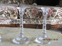 CRYSTAL CANDLE HOLDER SET