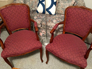 2 Italian Provincial Chairs Both For $60