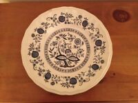 Kensington Hand Crafted Staffordshire Ironstone Decorative Plate in Blue