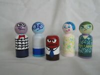 Inside Out Wooden Peg Characters