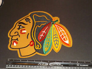 "Chicago Blackhawks Large 10"" Front Logo embroidery Patch Emblem"