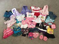 Girls build a bear clothes bundle