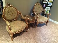 Antique Upholster Armchairs