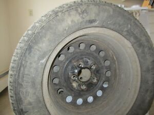 "Set of 4 Izen Studded Winter Tires on Rims-P225/60R16"" Regina Regina Area image 4"