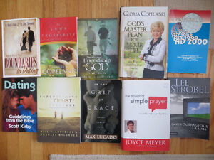 CHRISTIAN BOOKS - a few new, never read