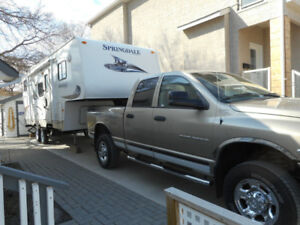 "Comb: 27'2"" Keystone 5th wheel camper & Dodge ram  2500 diesel"