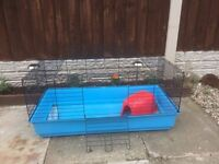Large guniea pig or rabbit cage hutch cage