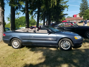 2001 Chrysler Sebring LX convertible. Call 905 922 5752