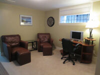Furnished 1 Bed Bsmt Exc Loc Modern Garrison Xing Shops FVU