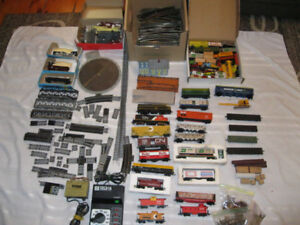 Large Lot of HO  Gauge Trains, Tracks and Accessories