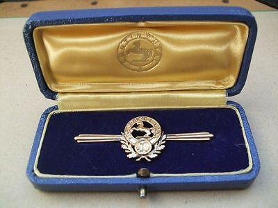 goldene Anstecknadel, Ansteckspange 40 Jahre Continental im Etui in 333 Gold