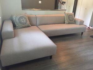 Light Grey Sectional Sofa from Scan Design