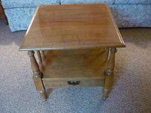Roxton Table  Maplewood(1 Pull Drawer on Bottom of Table)