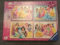Disney Princess Jigsaws 100pieces x 4