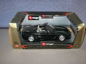 Bburago 1:24 Scale Diecast Car 1998 Chevrolet Corvette Black