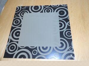 Miroirs avec contours à motifs noir (Pour 12)