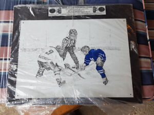 Hockey steel lithograph limited print