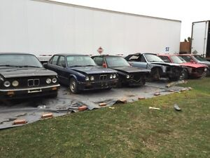 Parting out old BMWs e30/e24/e28/e34/e38