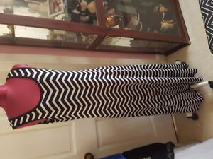 Ivanka Trump maxi chevron dress