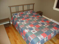 Twin bed with mattress, frame, headboard