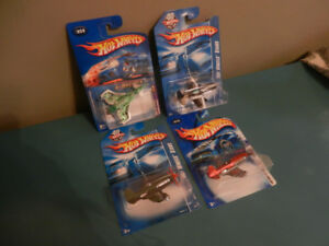 Hot Wheels Airplanes Mad Propz, Poison Arrow Lot of 4