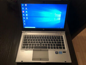 Laptop HP Elitebook i5, 8GB, 240GB SSD, fiable rapide Win 10
