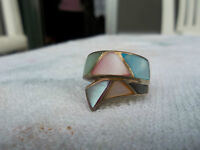 Blue & Pink Pearl Ring