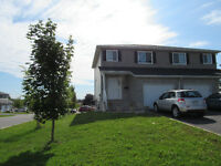 North end 4 yr old 2 story semi with garage and walkout basement