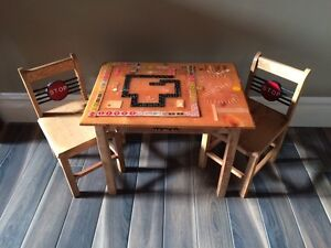 Children's games table & chairs