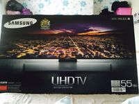 "Samsung HU7500 55"" 4K UHD TV Boxed as New Warranty till 2019"
