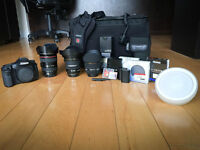 Canon 7D, Objectifs 10-22 mm, 24-105 mm, 50 mm, flash 580EXII…