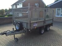 Ifor Williams LM 105 GHD high side caged mesh dropside trailer 3500kg heavy duty