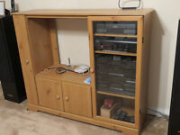TV stand with shelving