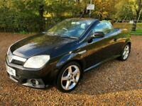 2006 (56) Vauxhall Tigra 1.8i 16v (a/c) Exclusiv 2 Door Black 111000 Miles