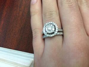Ensemble de bague de mariage en diamant