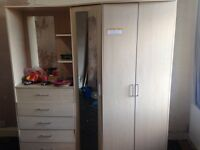 Wardrobe with chest of draws