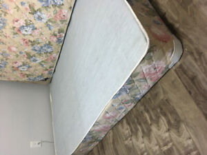 Double box spring and mattress.  $120.00.