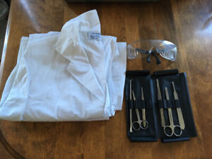 Lab Coat, Safety Glasses, and Dissecting Kit