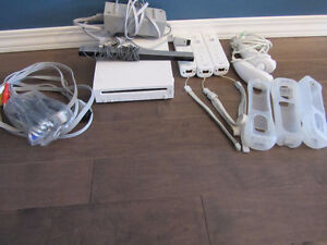 Wii, accessories and games shown