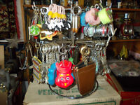275+ VINTAGE KEYCHAINS WITH ROTATING RACK YUKON ITEMS AS WELL