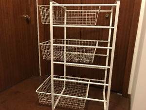 WIRE BASKET STORAGE SYSTEM