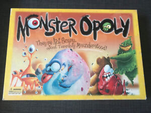 Monster opoly Game. Board game